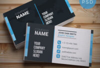 Cool 12 Free Business Card Templates Psd. Here, We Have inside Name Card Template Psd Free Download