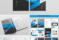 Cool Indesign Annual Corporate Report Template | Indesign regarding Adobe Indesign Brochure Templates