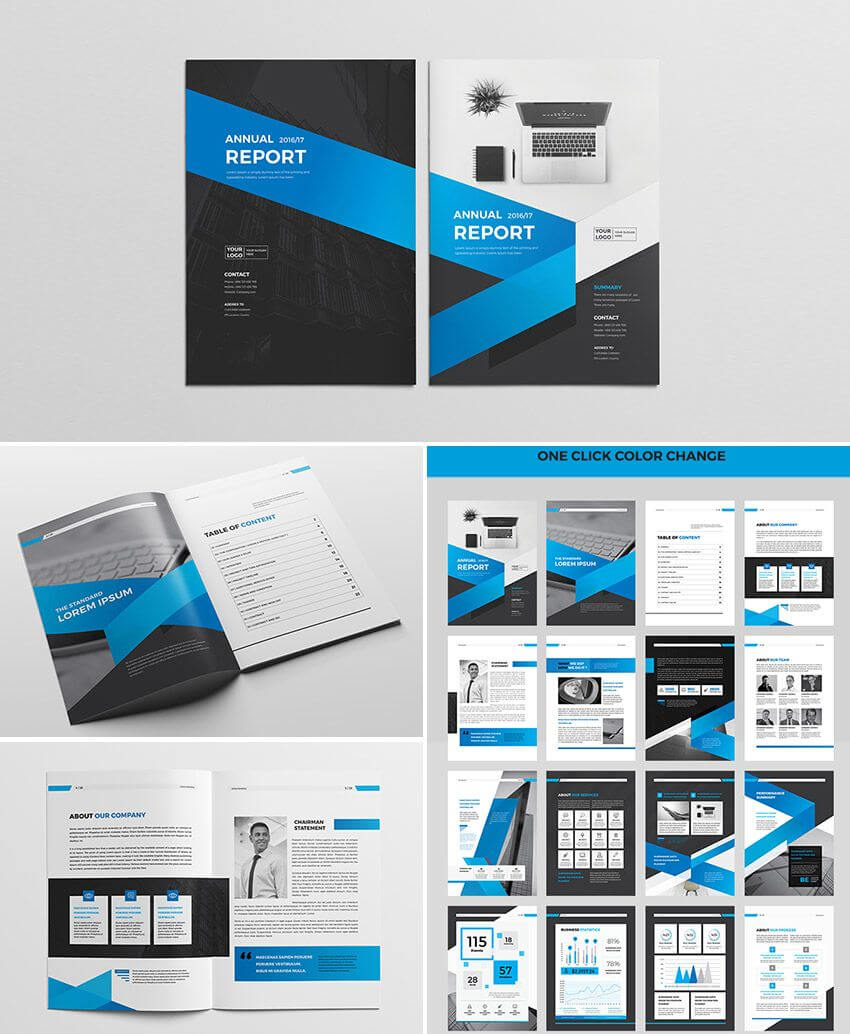 Cool Indesign Annual Corporate Report Template | Indesign Throughout Free Indesign Report Templates