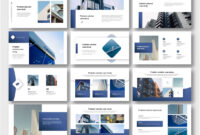 Cool & Modern Blue Business Presentation Template for University Of Miami Powerpoint Template