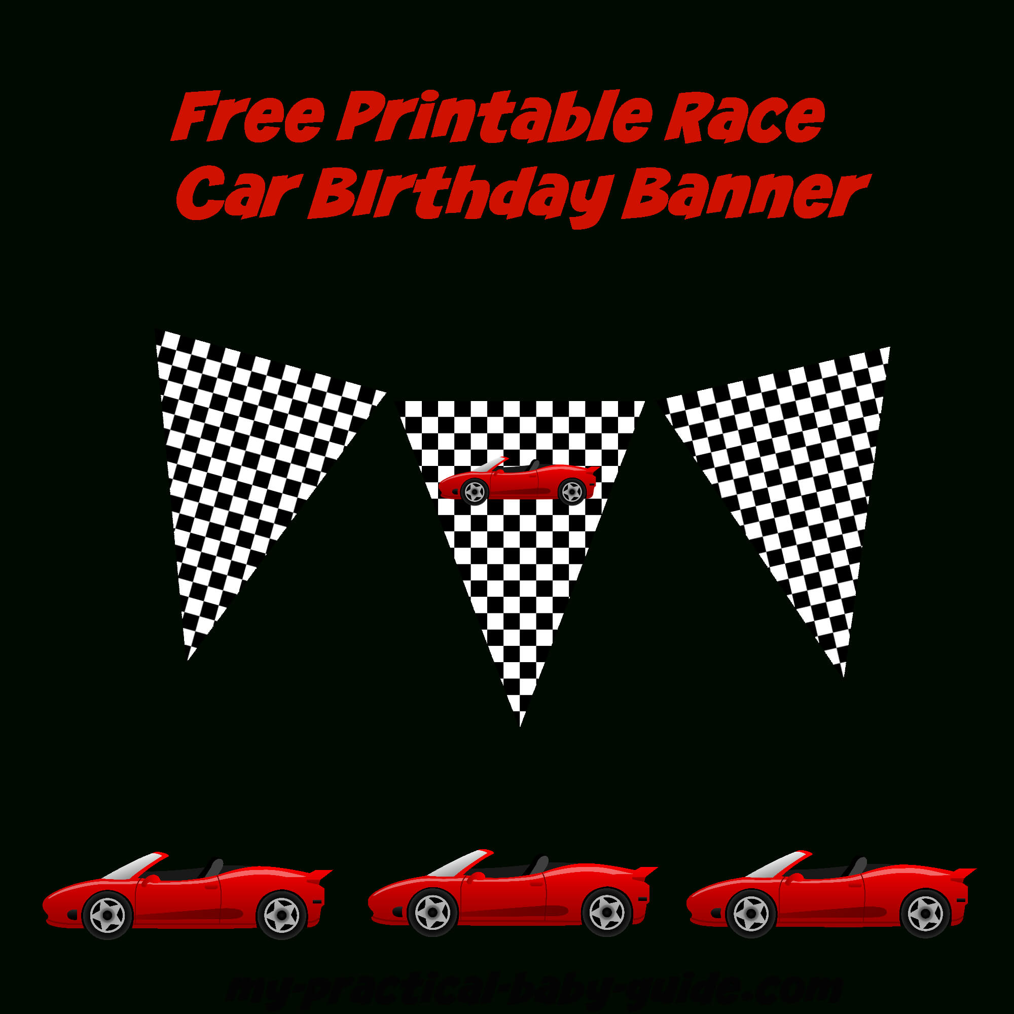 Coolest Car Birthday Ideas - My Practical Birthday Guide In Cars Birthday Banner Template