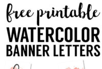 Coral Watercolor Banner Free Printable | Birthday Banner throughout Free Bridal Shower Banner Template