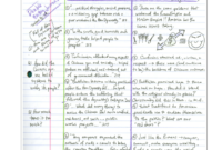 Cornell Notes Example 4: Double Entry Journal throughout Double Entry Journal Template For Word