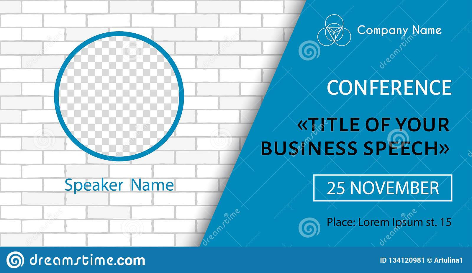 Corporate Announcement Poster Template. Vector Flyer For Inside Event Banner Template