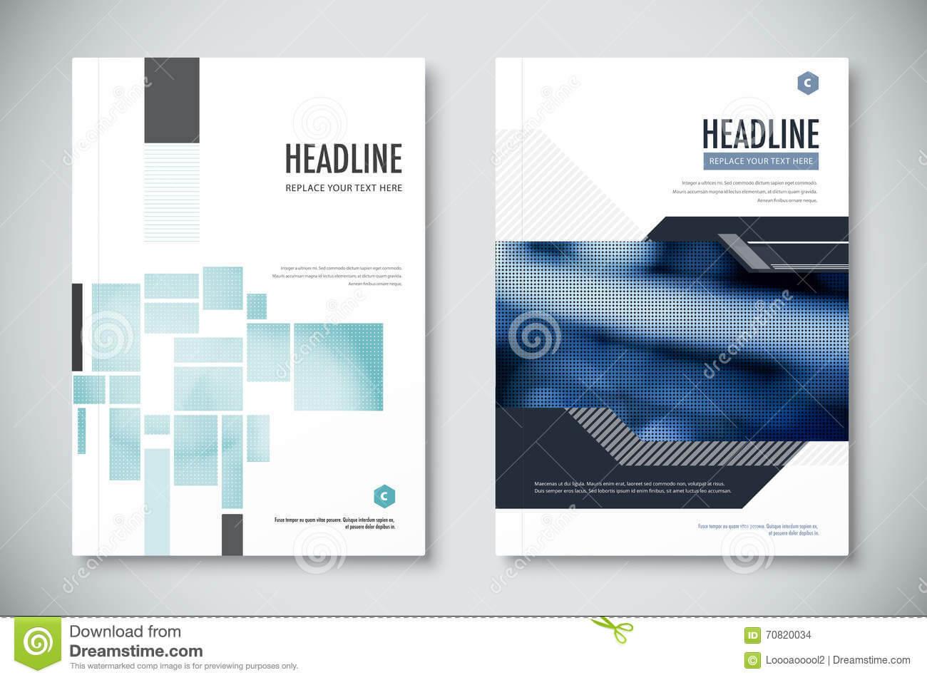Corporate Annual Report Template Design. Corporate Business For Illustrator Report Templates