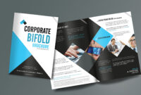 Corporate Bifold Brochure Design Templates – Freedownload with Creative Brochure Templates Free Download