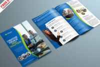 Corporate Bifold Brochure Psd Template | Psdfreebies within Two Fold Brochure Template Psd