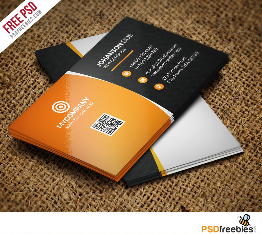 Corporate Business Card Bundle Free Psd - Download Psd Regarding Free Psd Visiting Card Templates Download