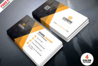 Corporate Business Card Template Psd | Psdfreebies throughout Psd Name Card Template