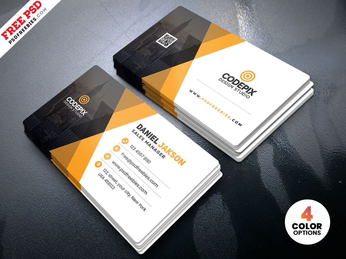 Corporate Business Card Template Psd | Psdfreebies With Calling Card Template Psd