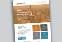 Corporate Flyer Design In Microsoft Word Free – Used To Tech pertaining to Templates For Flyers In Word