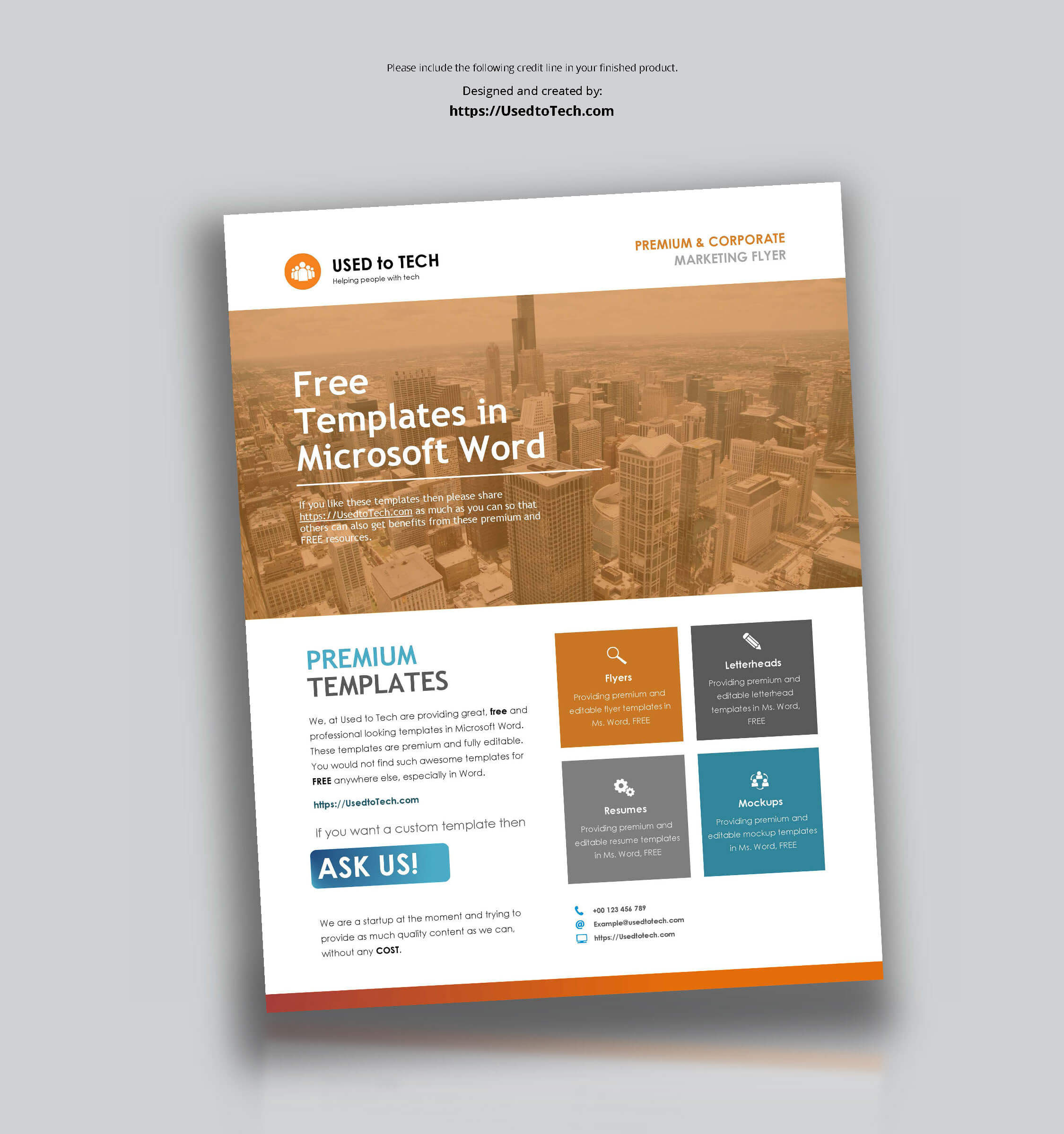 Corporate Flyer Design In Microsoft Word Free - Used To Tech Pertaining To Templates For Flyers In Word