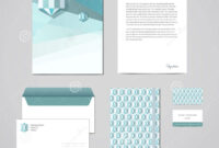 Corporate Identity Design Template. Documentation For inside Business Card Letterhead Envelope Template