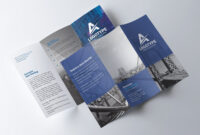 Corporate Tri-Fold Brochure – Psd Template – Free Psd Flyer regarding 3 Fold Brochure Template Psd