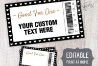 Coupon Template Christmas Editable Coupons, For Dads Moms throughout Blank Coupon Template Printable