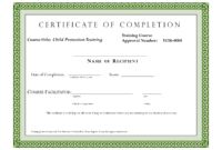 Course Completion Certificate Template | Certificate Of throughout Certification Of Completion Template