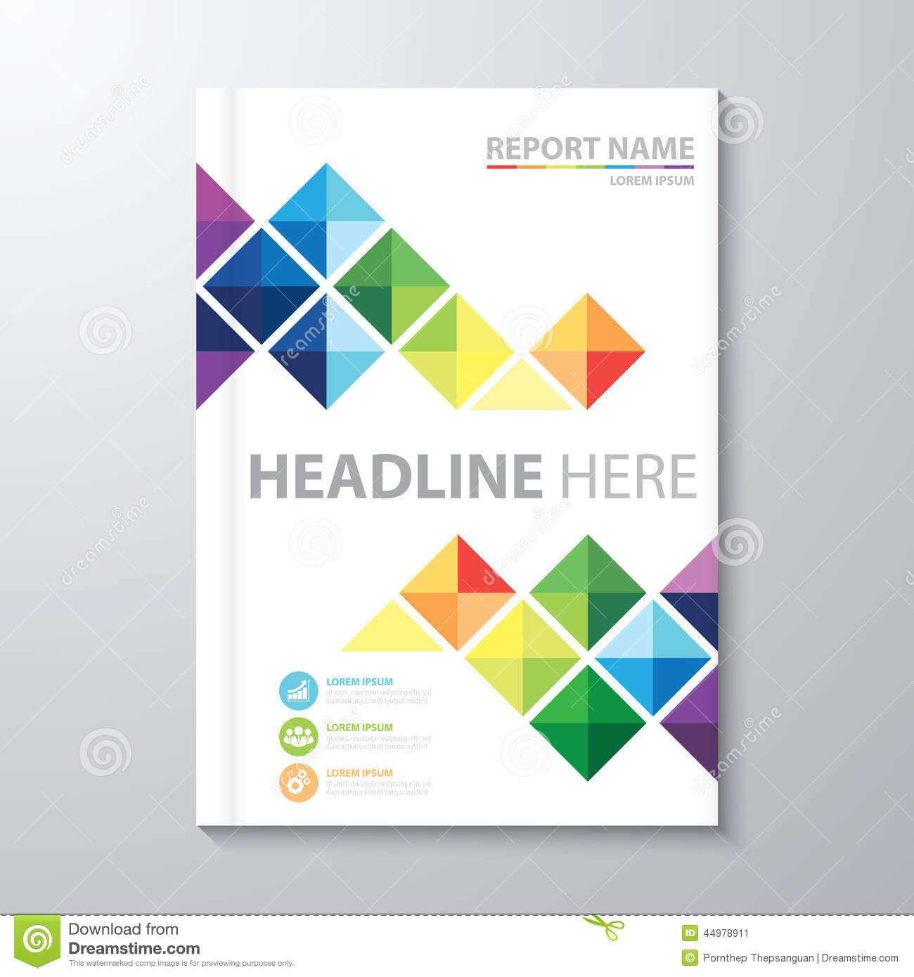 Cover Annual Report Stock Vector. Illustration Of Artwork Throughout Illustrator Report Templates