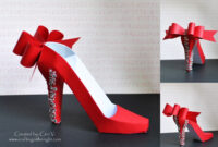 Crafting In The Night: 3D High Heel Shoe – Svgcuts with regard to High Heel Template For Cards