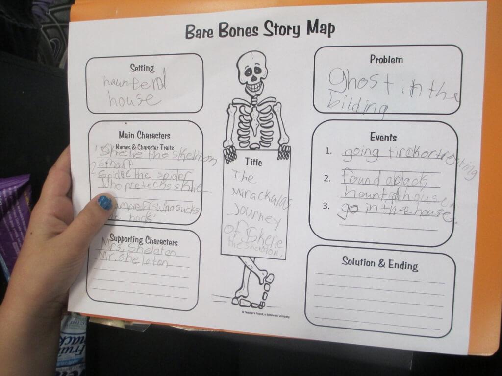 Crafty Symmetric Skeletons | Scholastic Regarding Skeleton Book Report Template