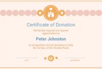 Cream Donation Appreciation Certificate Template throughout Donation Certificate Template