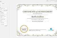 Create A Certificate Of Recognition In Microsoft Word intended for Officer Promotion Certificate Template