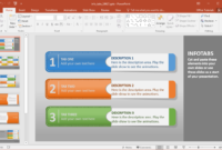 Create Animated Infographics With Info Tabs Powerpoint Template intended for Powerpoint Replace Template