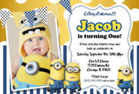 Create Own Minion Birthday Invitations Templates For Create with Minion Card Template