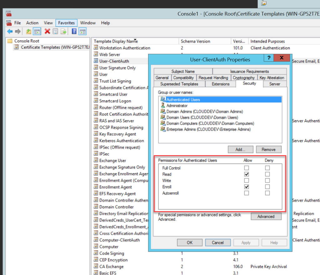 Creating The Certificate Templates With Regard To Active Directory Certificate Templates