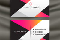 Creative Bright Business Card Design Template regarding Template For Calling Card