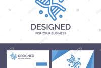 Creative Business Card And Logo Template Bio, Dna, Genetics with regard to Bio Card Template