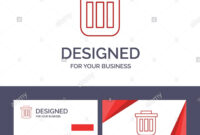 Creative Business Card And Logo Template Trash, Basket, Bin with regard to Bin Card Template