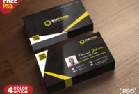 Creative Business Card Psd Template – Download Psd intended for Visiting Card Psd Template