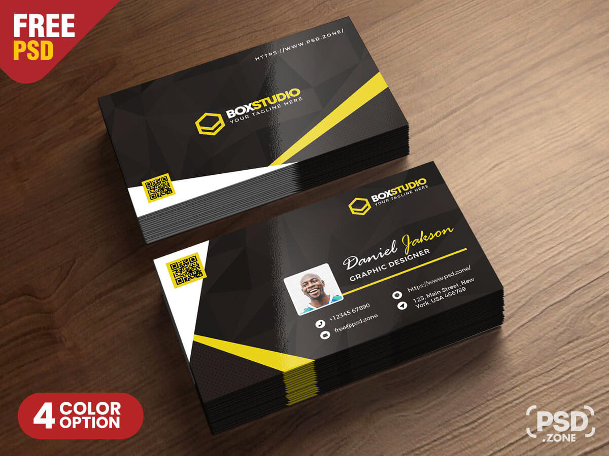 Creative Business Card Template Psd - Psd Zone Intended For Creative Business Card Templates Psd