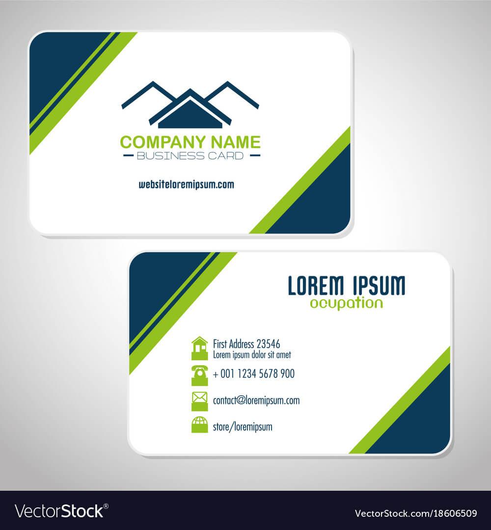 Creative Corporate Business Card Templates Within Company Business Cards Templates