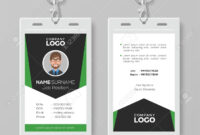 Creative Corporate Id Card Template With Green Details throughout Work Id Card Template