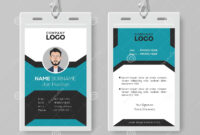 Creative Employee Id Card Template Stock Vector throughout Pvc Card Template