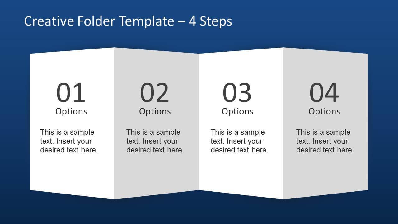 Creative Folder Paper With 4 Fold Brochure - Slidemodel Inside 4 Fold Brochure Template