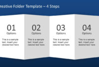 Creative Folder Paper With 4 Fold Brochure – Slidemodel throughout Brochure Folding Templates