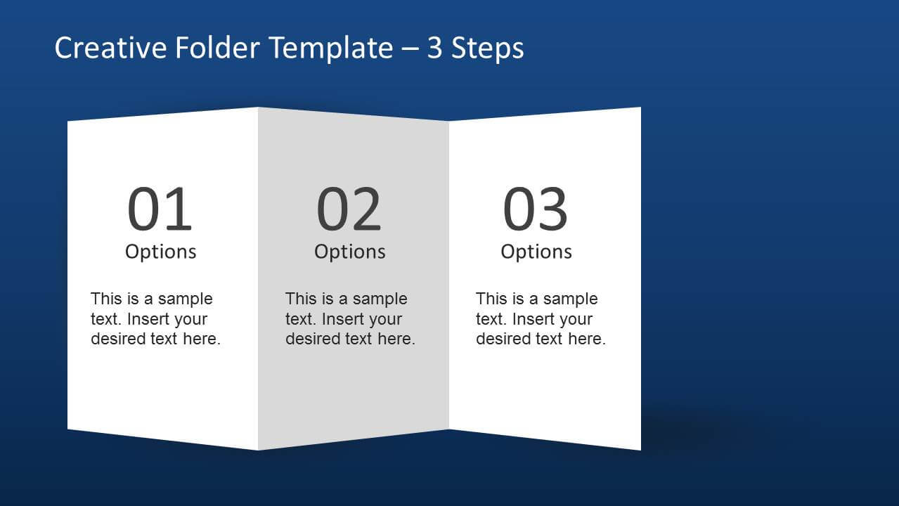 Creative Folder Template Layout For Powerpoint For Brochure 4 Fold Template
