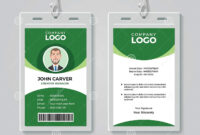 Creative Green Corporate Id Card Template Stock Vector with regard to Portrait Id Card Template