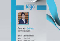 Creative Id Card Template 14 – Mabd86 – Free Graphics with Portrait Id Card Template