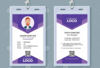 Creative Id Card Template Stock Vector. Illustration Of throughout Conference Id Card Template