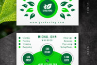 Creative Landscaping Business Card Corporate Identity Template intended for Landscaping Business Card Template