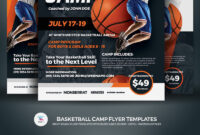 Creative Ready Made Sports Camp Flyer Templates | Entheosweb with regard to Basketball Camp Brochure Template