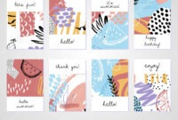 Creative Tropical Summer Cards Trendy Style Collage Hand within Birthday Card Collage Template