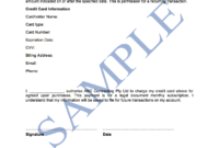 Credit Card Authorisation Form – Free Template | Sample Inside Credit Card Authorisation Form Template Australia