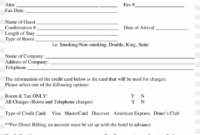 Credit Card Authorization Form For Choice Hotels Form – Pdf for Hotel Credit Card Authorization Form Template
