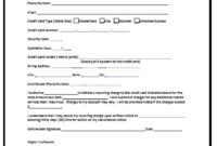 Credit Card Authorization Form Template | Besttemplates123 within Credit Card Payment Slip Template
