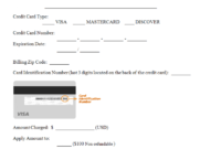Credit Card Authorization Form Template | Credit Card Design regarding Authorization To Charge Credit Card Template