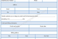 Credit Card Authorization Form Template – Sample Forms pertaining to Credit Card Authorization Form Template Word